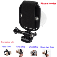 Adjustable Universal Hands Free Smartphone Cell Phone Mobile Phone Strap Mount Adapter For Head Stap Mount