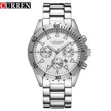 Venta caliente de La Manera Formal de Negocios Casual Relojes de pulsera de Cuarzo para Los Hombres Reloj de Acero Completo Reloj de Pulsera Relogio masculino Relojes