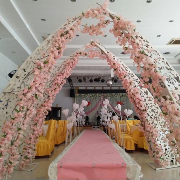 Diy Wedding Arch Ideas Indoor: The New Wedding Props Outdoor Metal Horn Door Wedding