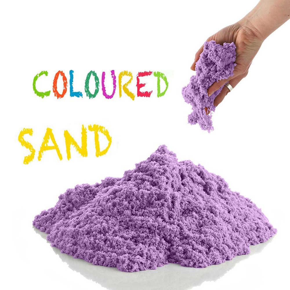 100 г/пакет мягкий волшебный песок DIY Динамический Песок Игрушки для игр в помещении для детей моделирование глина слизь играть в обучение Развивающие