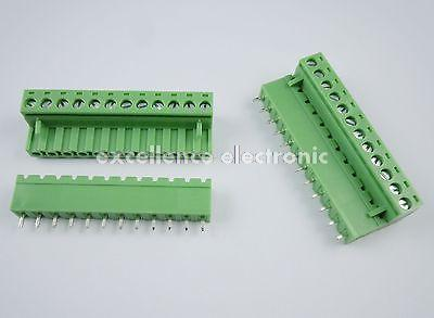 20Pcs 5.08mm Pitch 12 pin 12 way Screw Pluggable Terminal Block Plug Connector 2EDG L pluggable terminal blocks 3 pos 10 16mm pitch plug 18 6 awg screw