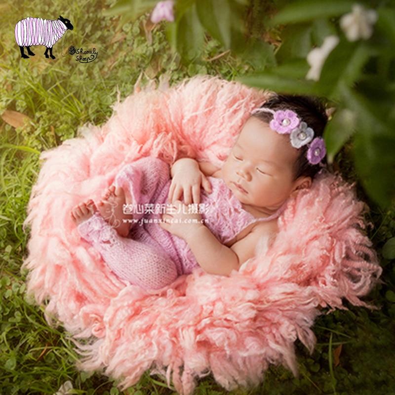 Nouveau-né bébé photographie laine fourrure couverture accessoires bébé Photo Shoot Studio mouton fourrure couverture infantile bebe fotografia accessoires