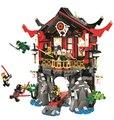 10806 Ninjagoing храм воскресения Совместимость Legoings Ниндзя Блок Набор Творческий здания игрушечные лошадки для детей 809 шт - фото