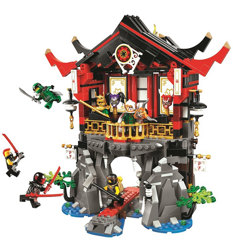 10806 Ninjagoing Temple of Resurrection Compatible Legoings Ninja Block Set Creative Building toys for children 809Pcs 1326pcs ninjaos temple of ninjagoes blocks set toy compatible with legoings ninja movie building brick toys for children