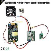 Ssd90 SS-90 cst90 6500k 3000 lúmen reequipado led 60w lâmpada de luz com unidade energia dimmer para a fase movendo a cabeça luzes do projetor
