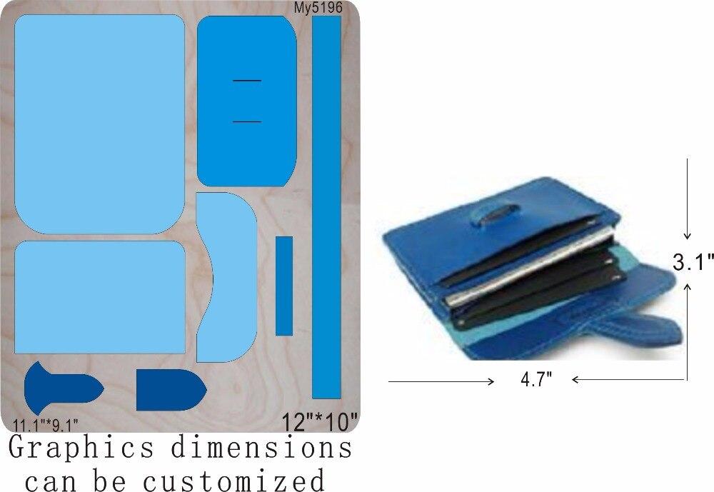 DIY wallet Wooden Die cut accessories wooden die Regola Acciaio Die Misura MY