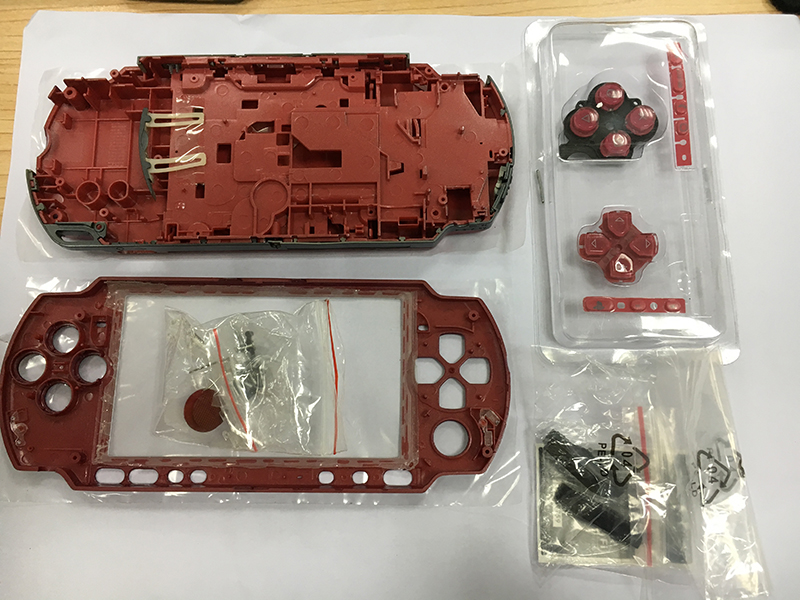 Red Color Full set Housing Shell Cover Case Replacement for PSP3000 PSP 3000 Game Console with Buttons Set