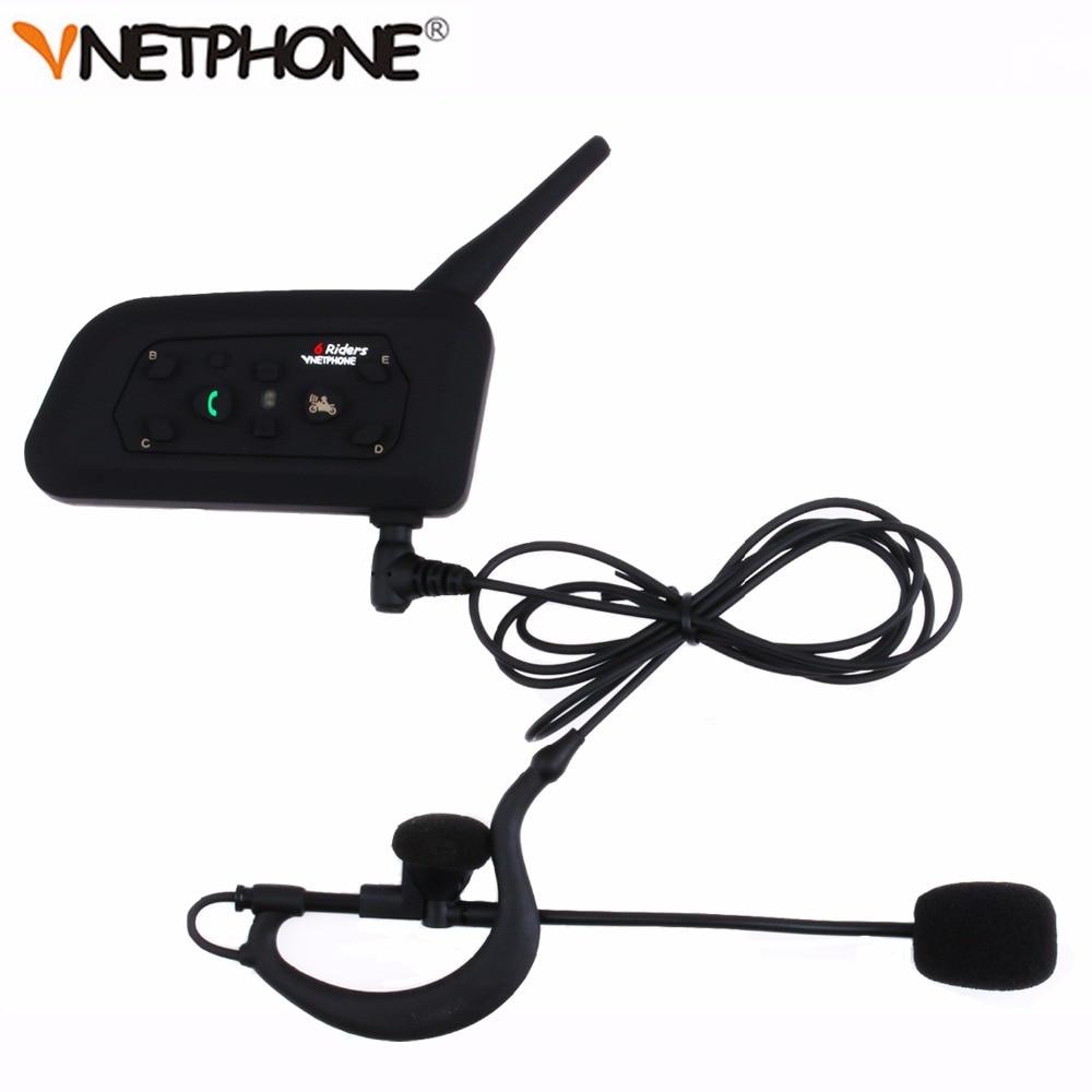 Vnetphone V6C New 1200M Football Referee Arbitration Earhook Bluetooth Intercom Monaural Earphone Headset Headphone Kit * 2 pcs