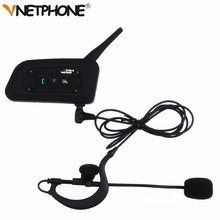 Vnetphone V6C New 1200M Football Referee Arbitration Earhook Bluetooth Intercom Monaural Earphone Headset Headphone Kit * 2 pcs