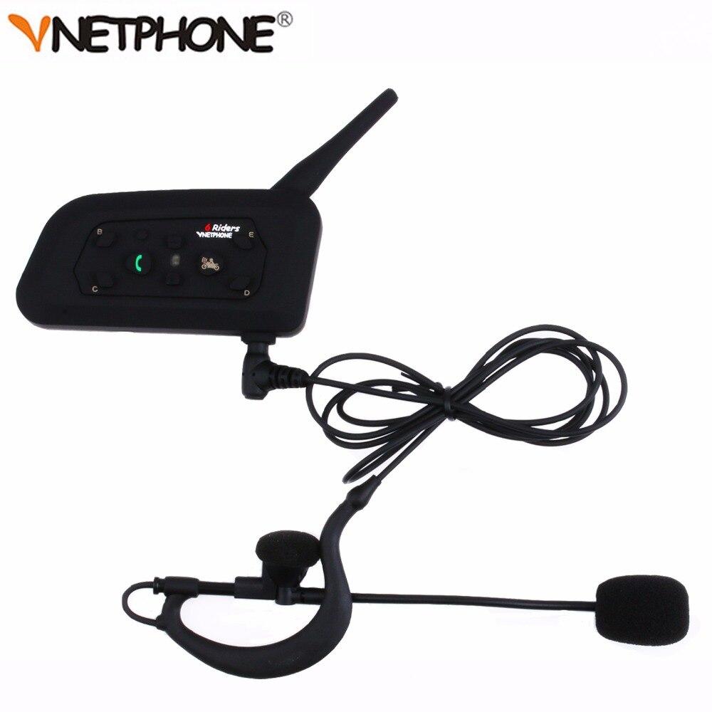 Vnetphone V6C Nuovo 1200 M Arbitro di Calcio Arbitrato Curvetta Bluetooth Intercom Mono Auricolare Cuffia Kit * 2 pz