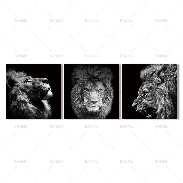 Animal lion art prints Wall Art Pictures Canvas Painting  6