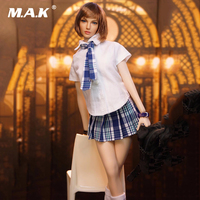 1/6 Scale Girl Students School Uniforms Models Shirt Skirt Tie Stocking Models for 12 Inches Female Bodies Figures Dolls