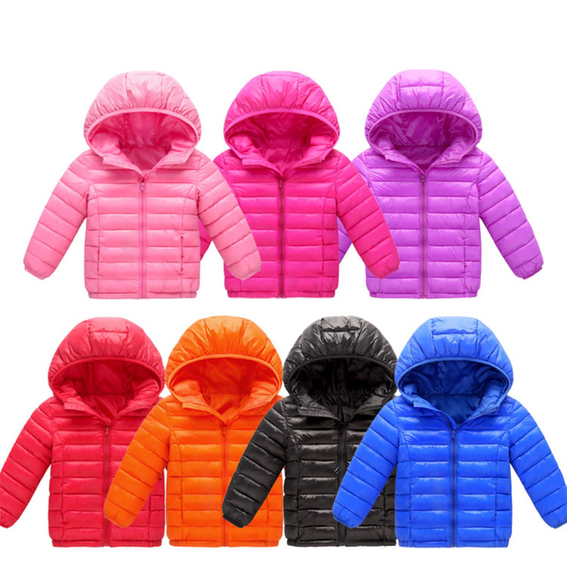 Children's Winter Cotton Padded Jackets 2018 Kids Boys Girls Hooded Parkas Warm Coats Kids Winter Clothes For Boys 3-12 Years
