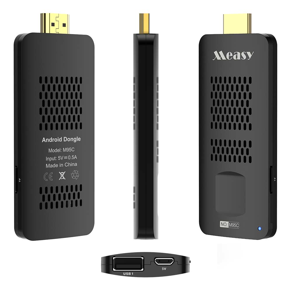 MEASY M95C Android 6.0 TV Dongle Amlogic S905X Quad-Core 1GB 8GB 4K KODI Media Player Smart TV Stick for TV/Projector/Monitor measy b4a amlogic s802 quad core 2 0ghz android 4 4 tv box hdmi hdd