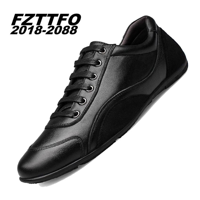 Hombres 100% Zapatos de Conducción de Cuero Genuino Hecha A Mano, FZTTFO 2018-20