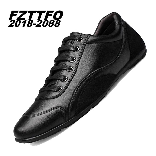 Men's 100% Genuine Leather Handmade Driving Shoes,FZTTFO 2018-2088 Casual Shoe,Brand Design Flats Loafers For Men K218