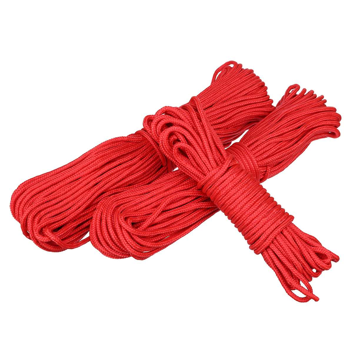 30m red polypropylene rope poly cord 3mm