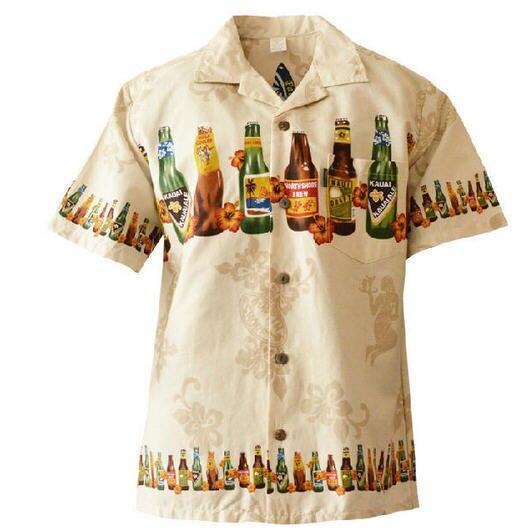 Новое лето стиль гавайская рубашка сша размер хлопка с коротким рукавом гавайская рубашка мужчин свободного покроя пляж гавайи рубашка бесплатная доставка