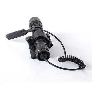 Image 2 - وضع واحد 3800Lm XML T6 LED التكتيكية مضيا 18650 مصباح شعلة linteras للصيد في الهواء الطلق المغناطيسي X بندقية جبل حامل