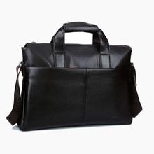 Men Laptop Briefcase Genuine Cowhide Leather Handbags Men Brown Messenger Bags Men's Shoulder Bag Crossbody Bags For Macbook Pro