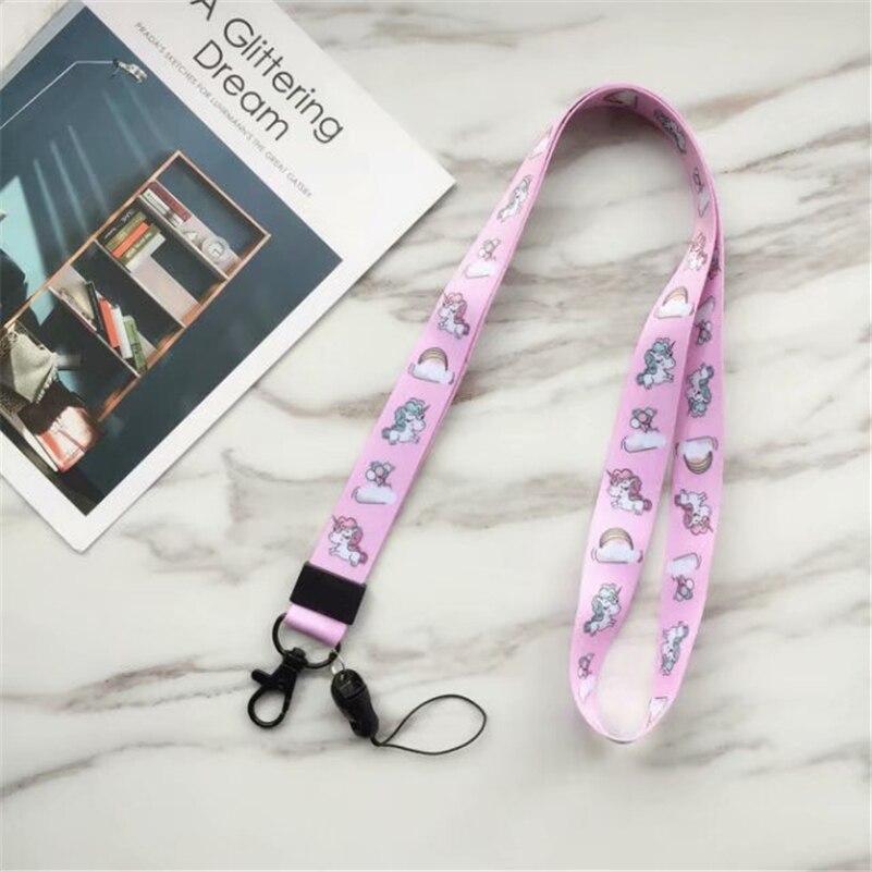 Fashion Unicorn Neck Strap Pop Cartoon Lanyards For Keys ID Card Gym Mobile Phone Straps USB Badge Holder DIY Hang Rope