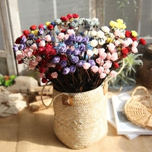 1 pc PE Mini Rose Autumn Artificial Flower Silk Fake Small Flowers for Wedding Party DIY Wreath