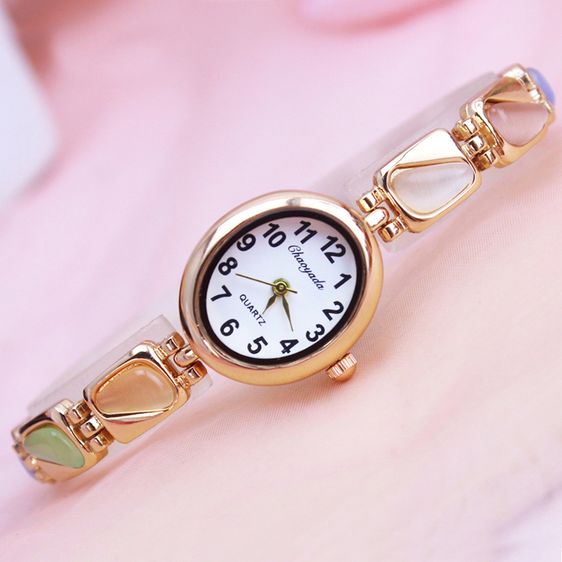 2018 Cyd Women Girls Oval Quartz Bracelet Watches Ladies Fashion Crystal Luxury Rhinestone Dress Wristwatches Relogio Feminino