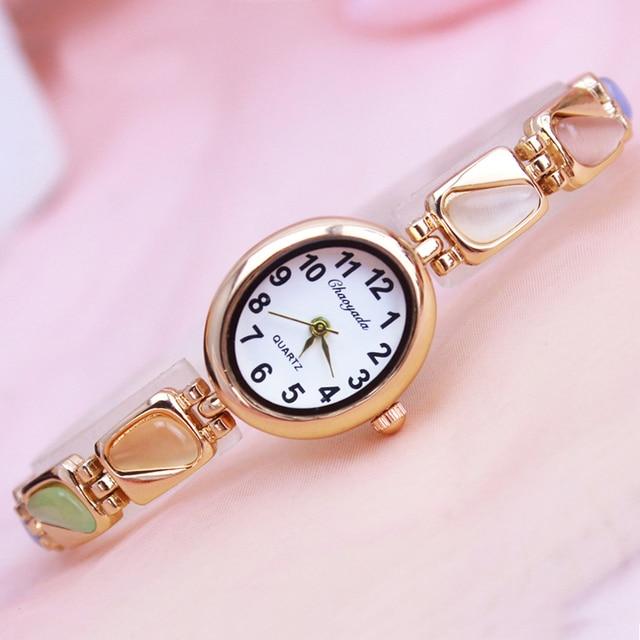 2018 cyd women girls oval quartz bracelet watches ladies fashion crystal luxury