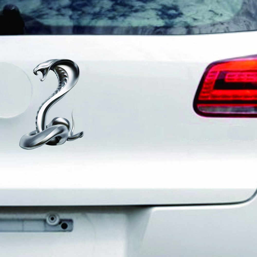 1Pcs personality eyes king snake car stickers car decals flying eagle car truck hood side cobra stickers 19Mar4