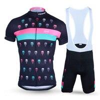2018 Лидер продаж Дьявол черепа узор Vélo Набор для Для мужчин дышащий MTB Велосипедная Форма велосипед/велосипед Открытый Спортивная одежда