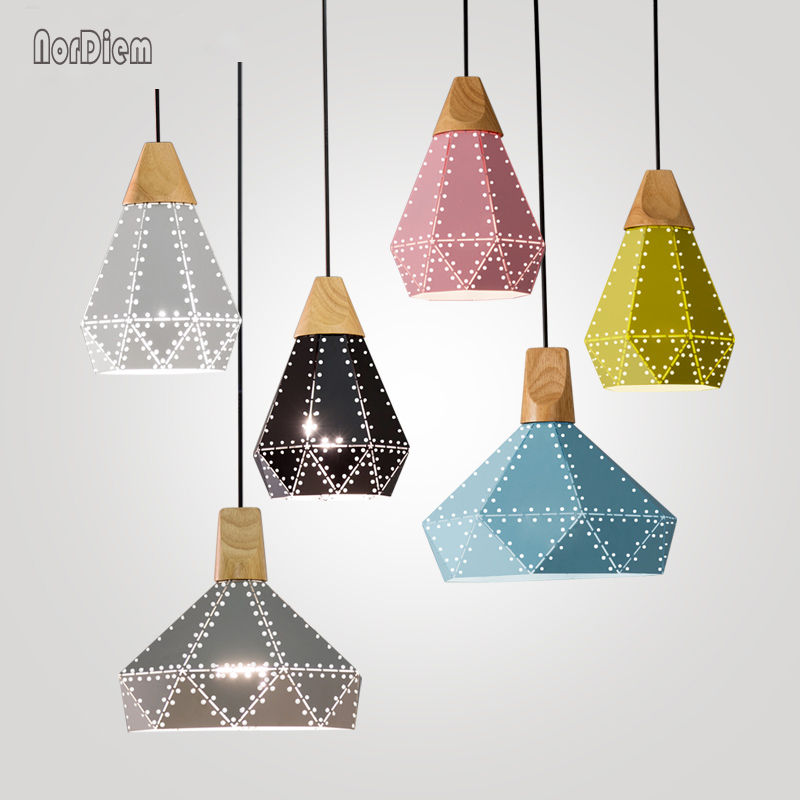 Nordic Loft Wood Scandinavian Pendant Light for Bedroom Kitchen Droplight Modern Industrail Iron Lampshade Hanging Lamp Fixtures nordic wood pendant lights for home lighting modern hanging lamp wooden lampshade led droplight bedroom kitchen light fixture