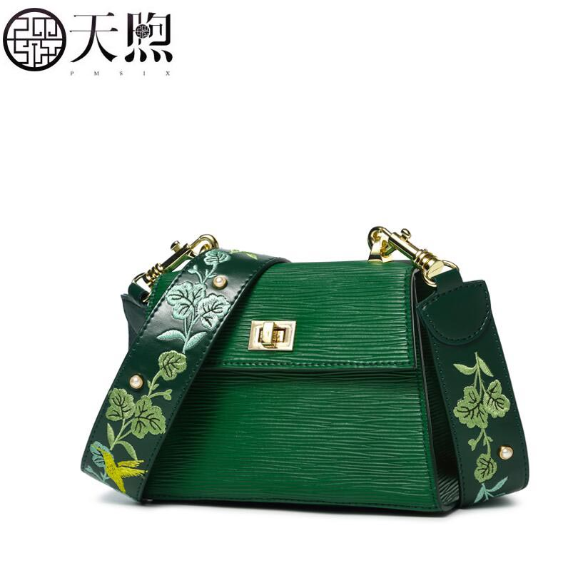 TMSIX 2019 New women leather bags fashion designer famous brand Cowhide embroidery handbags leather shoulder Crossbody bagsTMSIX 2019 New women leather bags fashion designer famous brand Cowhide embroidery handbags leather shoulder Crossbody bags