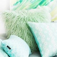 Plush Cushion Cover Sofa Lumbar Pillow Cover Multi Sizes