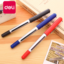 Deli 36PCS 0.5mm Black Blue Red Colored Ink Ballpoint Gel Pens School Office Writing Supplies Visiable ink Cute Business pen