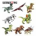 8pcs/lot Dinosaurs of Jurassic Figure World movie Toy DIY Building Blocks Sets Model Toys Kids Gifts