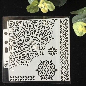 Plástico 1/4 círculo borde DIY capas plantillas de pared pintura libro de recortes colorear repujado álbum Plantilla de tarjeta de papel decorativo