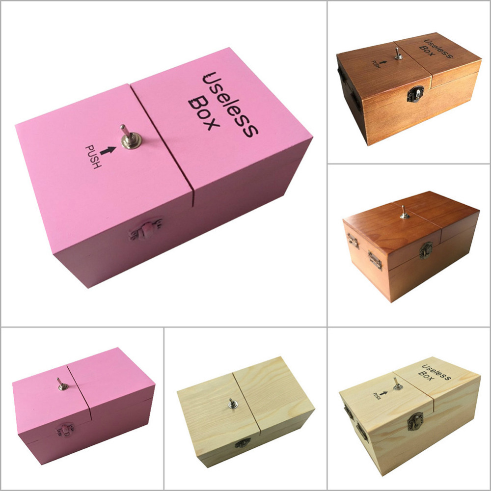 MINOCOOL Creative Wooden Useless Box Innovative Tricky Toy For gifts Fun party toys Interesting Pastime Machine Kit Gift Toys