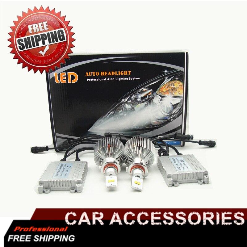 9007 9006 H4 Car LED Headlight Fog Light Conversion Kit 90W 19000lm Bulb Bulbs Car Headlight High Low Beam Light Source