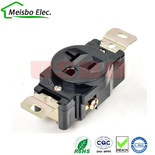 American 120V 20A 3 hole NEMA 5 20R US Single Generator outlet Anti ...
