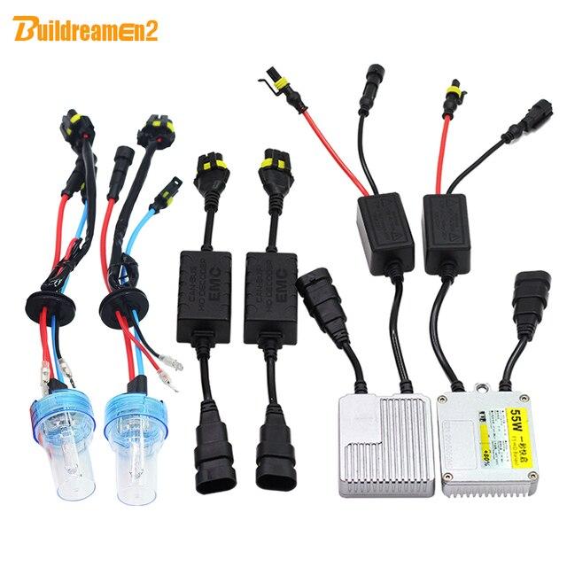 Buildreamen2 H3 55W AC HID Xenon Kit Ballast Bulb Canbus