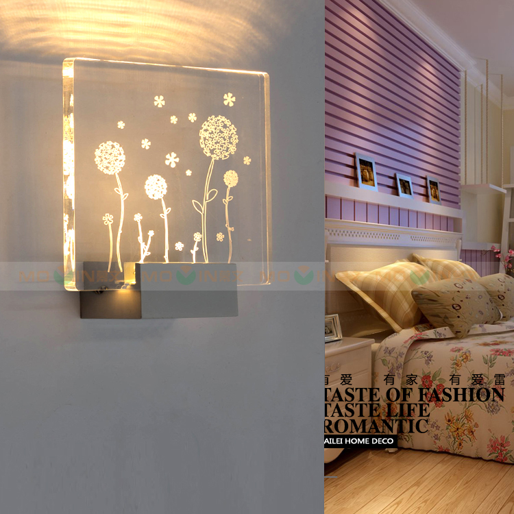 Bedroom 3-5W Led wall lights Lampara arts & crafts indoor wall sconce Hotel room Balcony Wall Lamp Home led lighting Wandlamp 3 narrow beam indoor wall effect light led architectural facade lighting 3 emission led wall sconce ac90 260v input decoration