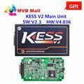 Mais recente V2.3 V4.036 Unidade Principal Versão KESS V2 OBD2 Mestre KESSV2 ECU Tuning Chip Ferramenta KESS V2 CNP Frete Grátis