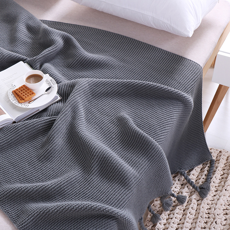 Nordic Style Home Decoration Casual Knitted Blankets for Beds koc narzuta Throw Sofa Bed Cover Plaids Bedpread Gifts for Women