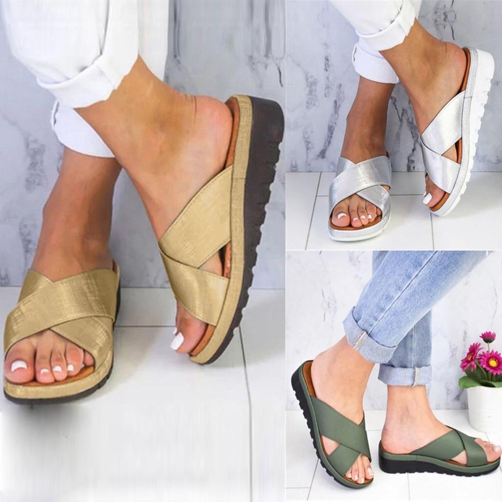 Women PU Leather Shoes Comfy Platform Flat Sole Ladies Casual Soft Big Toe Foot Correction Sandal Orthopedic Bunion CorrectorWomen PU Leather Shoes Comfy Platform Flat Sole Ladies Casual Soft Big Toe Foot Correction Sandal Orthopedic Bunion Corrector