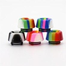 Autêntico YUHETEC 810 Resina mushroom rainbow stripe Gotejamento Dica para TFV8 Big Baby/TFV12 Príncipe/ijust 3/ ELLO Duro/Faraó Mini