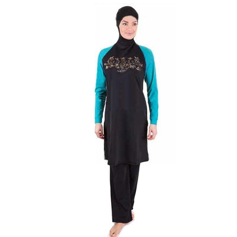 Nouveau musulman femmes Hijab vêtements de plage de natation maillot de bain Sport vêtements Burkinis Spa maillot de bain islamique maillot de bain intégral islamique