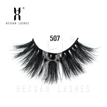 HEXUAN 25mm 3D 100% mink Eyelashes Mink lashes Long Lasting 5D Lashes Natural Dramatic Volume Extension