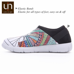 Image 5 - UIN Wheel Design Painted Canvas Shoes Women Trendy Slip on Loafers Ladies Travel Flats Fashion Sneaker