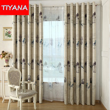 Custom Made American Rustic Birds Curtains For Living Room Bedroom Window Treatment Modern Blackout Tulle Curtains Fabric wp3533