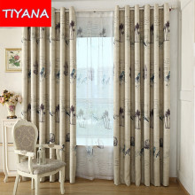 Custom Made American Rustic Birds Curtains For Living Room Bedroom Window Treatment Modern Blackout Tulle Curtains